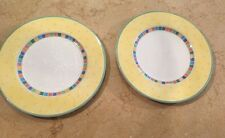 Set Of 2 Villeroy and Boch Twist Alea Limone Dinner Plates
