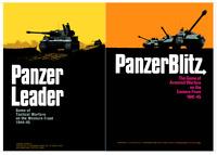 Panzer Leader & Panzer Blitz - 2 Wargames WW2 Avalon Hill PDF format DVD