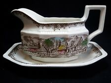 Kensington  Staffords Shakespeare's Sonnets Gravy Boat with Underplate