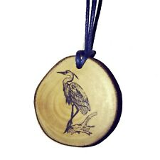 Heron Bird Handmade Wooden Necklace Charm Pendant Eco friendly Gift #Heron