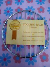 Mrs Andersons Baking Professional Baking and Cooling Rack 6 Inches Round chrome