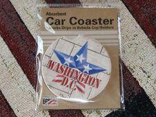CounterArt Absorbent Stoneware Car Coaster Patriotic Barn Star Washington D.C.