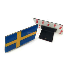 Sweden SE Flag Car Resin Front Grille Grill Emblem Badge Sticker For Volkswagen