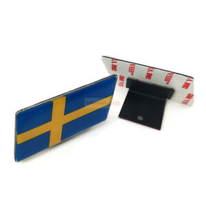 For Volvo Saab Sweden SE Flag Car Resin Front Grille Grill Emblem Badge Sticker