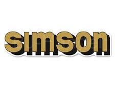 2x Aufkleber Schriftzug SIMSON gold S50, S51, S70, S53, S83