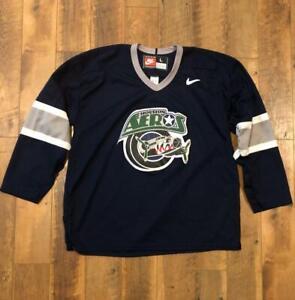 Rare VTG Nike Houston Aeros AHL Minor League Hockey Jersey L