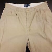 Polo Ralph Lauren Mens Vintage Chinos Trousers W38 L30 Beige Regular Straight