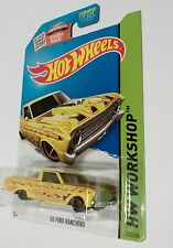 2015 Hotwheel (212/250 ) '65 FORD RANCHERO ,HW WORK SHOP , yellow