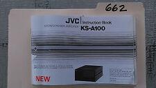 JVC ks-a100 user owner instruction book guide manual stereo power amp amplifier