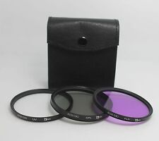 77mm Lens Filter Kit UV CPL Circular Polarizer FLD For Canon Nikon Tamron Sigma