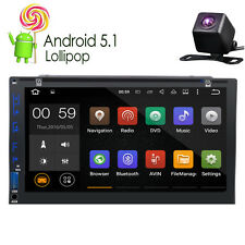 "CAM+Quad Core 7"" Touch Panel Android 5.1 Car Radio Stereo DVD Player GPS OBD2"
