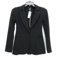 New White House Black Market Womens Curve Flattering Stretch Black Blazer - 00