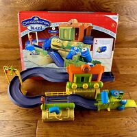 Learning Curve Diecast Chuggington Fix & Repair Shed Playset Complete NO Train