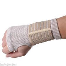 HP 1Pc Beige Palm Wrist Hand Support Glove Elastic Sports Bandage Gym Wrap