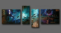 FRAMED HUGE MODERN ABSTRACT WALL DECOR OIL PAINTING ON Canvas Hand-painted aps31