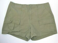 GAP Women's Short Camp Cargo Shorts, Olive 100% Cotton 14