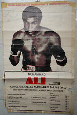 Muhammad Ali - Jimmy Ellis - Veronica Ali 1979 Original Signed Poster Sweden