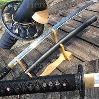 Battle Ready Japanese Clay Tempered T1095 High Carbon Steel Samurai Katana Sword