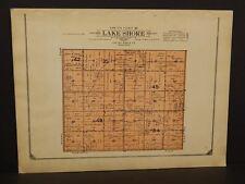 Minnesota Lac Qui Parle County Map Lake Shore Township  1913  W3#19