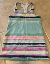 EUC Ivivva (Lululemon Girls) Size 7 Keep Ur Cool Racerback Tank Multi Stripe