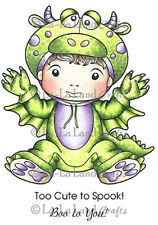 New La La Land Crafts DARLING DRAGON LUKA Cling Rubber Stamp Boy Halloween Boo