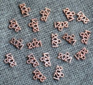 10 Number Charms 2021 Pendants Rose Gold Graduation Year New Years