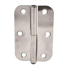 Zenith RADIUS BUTT HINGE Internal Door LIFT OFF Pin POLISHED CHROME, 2pcs- 90mm