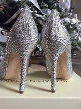 Benjamin Adams Silver Crystal Ocasion Bridals Shoes size 41