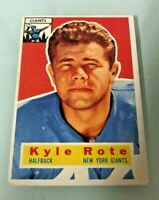 1956 TOPPS NEW YORK GIANTS KYLE ROTE#29 CARD CENTERED EX/MN ALL-PRO
