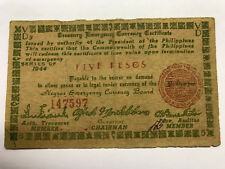 1944 Philippines 5 Pesos Emergency Note VG++ #6677