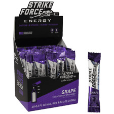Strike Force Energy - 40 Count Box GRAPE - Sugar/Calorie Free Liquid Drink Mix