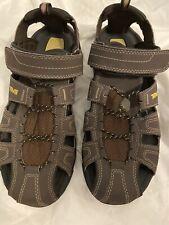 New Teva Shocpad 1001116 Men's Size 9 Brown Fisherman Comfort Sandals Vegan
