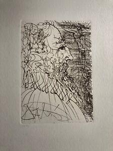 Salvador Dali EL GRECO Spanish Immortals Surrealism Etching Plate Signed