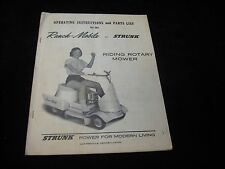 Vintage STRUNK Ranch-Mobile Operating Instructions and Parts List Manual