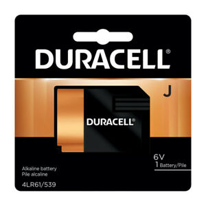 Duracell Alkaline Battery Size, J 6V Car Alarm GPS Key Fob Long-Lasting Reliable