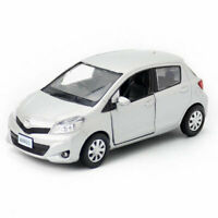 1:36 Scale Toyota Yaris Model Car Diecast Toy Vehicle Silver Kids Boys Gift