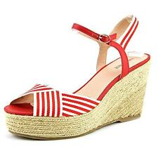 Nine West Breeze Women Red Wedge Sandal, Red/Wht, Size 9.5 US / 7.5 UK