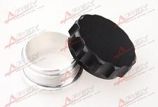 "1"" 25.4mm Aluminium Alloy Weld On Filler Neck And Cap Oil Fuel Water Tank Black"