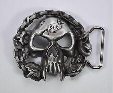 gothique crâne Motard Tête de Mort Boucle de ceinture Vampire 529