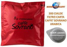 300 cialde filtro carta 44 mm caffè sovrano arabica compatibili mokona bialetti