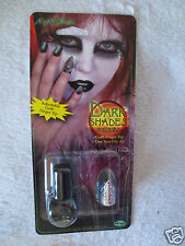 Halloween High Gloss Nail Dark Shades Black Goth Finger Tip New