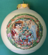 DISNEY PARK CHRISTMAS THROUGH THE YEARS 2006 PINOCCHIO GLASS BALL ORNAMENT NEW