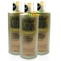 3x LIQUID BLONDE Activating Golden Treatment SHAMPOO 200ml - Boosts Colour