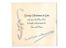 Vintage Remington Rand Corporation World War II Christmas Card