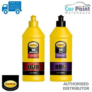 Farecla G3 Premium Abrasive Cutting Compound & G3 Wax 500ml KIT Car Detailing