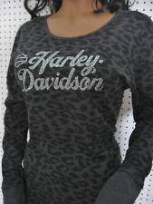2XL nwt Woman's HARLEY DAVIDSON *Leopard Print* Thermal Long Sleeve Shirt Top