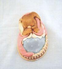 Vintage Pendelfin Rabbit Figurine - 1964 - Poppet 915.533 - Rare Pnk/Blu - Gvc