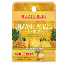 [BURT'S BEES] FLAVOR CRYSTALS 100% Natural Beeswax Lip Balm TROPICAL PINEAPPLE