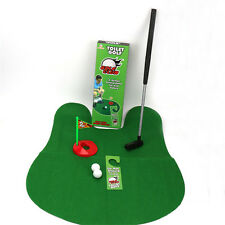 Novelty Durable Potty Putter Toilet Time Mini Golf Game Novelty Gag Gift Toy Mat