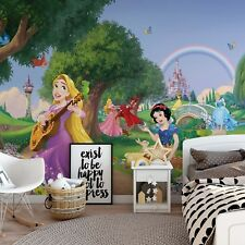 144x100inch Wall mural photo wallpaper Disney princess Snow White Rapunzel +glue